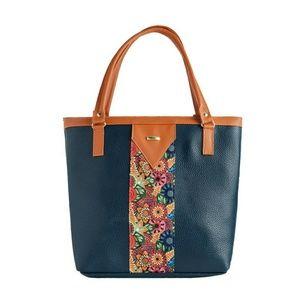 Beautiful Blue & Camel Handbag NWT